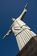 Art Deco sculpture of Christ the Redeemer on top of Corcovado mountain, Rio de Janeiro. One of the new Seven Wonders of the World.