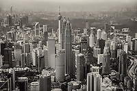 Kuala Lumpur Skyline (monochrome)