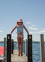 Sophia Sharood on the docks in Wolfeboro, NH.  (Karen Bobotas/Photographer)