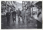 group of men by them self on an vacation trip Japan late 1950s or early 1960s