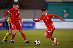 BANGOR, WALES - Saturday, November 17, 2018: Wales' Dylan Levitt during the UEFA Under-19 Championship 2019 Qualifying Group 4 match between Sweden and Wales at the Nantporth Stadium. (Pic by Paul Greenwood/Propaganda)