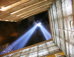 Sep 11, 2006; New York, New York, USA; The Tribute in Light, the temporary World Trade Center Memorial, illuminates the sky on the 5th anniversary of the attacks on Monday, September 11th, 2006.   Mandatory Credit: Photo by Jonathan Young/ZUMA Press. (©) Copyright 2006 by Jonathan Young