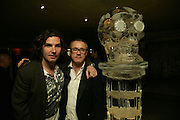 ANTONY GENN AND DAMIEN HIRST, Beyond Belief-Damien Hirst. White Cube Hoxton and Mason's Yard.Party  afterwards at the Dorchester. Park Lane. 2 June 2007.  -DO NOT ARCHIVE-© Copyright Photograph by Dafydd Jones. 248 Clapham Rd. London SW9 0PZ. Tel 0207 820 0771. www.dafjones.com.