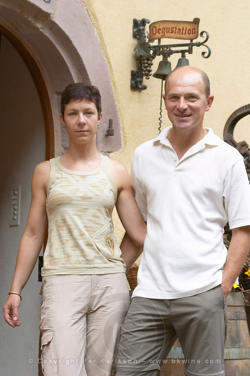 Francois Sorg and his wife owner dom bruno sorg eguisheim alsace france