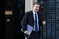 © Licensed to London News Pictures. 02/04/2019. London, UK. Justice Secretary David Gauke leaves 10 Downing Street after Prime Minister Theresa May delivered a statement announcing that she will seek a further extension of Article 50. Photo credit: Rob Pinney/LNP