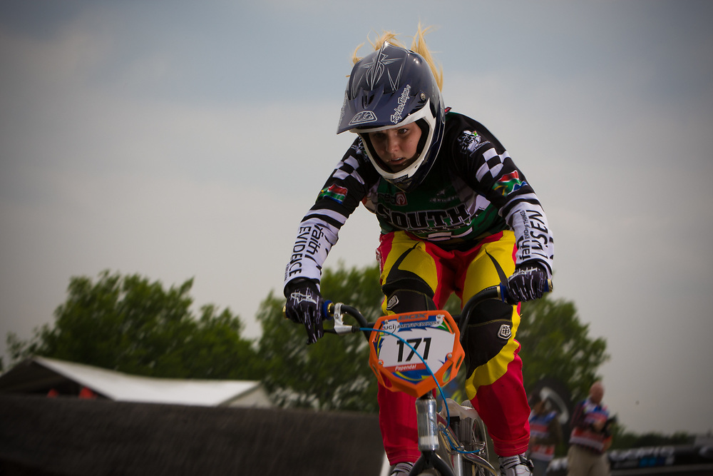 #171 (O'KEEFFE Teagan) RSA at the UCI BMX Supercross World Cup in Papendal, Netherlands.