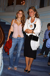 Left to right, MISS LYDIA FORTE and her mother LADY FORTE at a party to celebrate the publication of 'Princesses' the six daughters of George 111 by Flora Fraser held at the Saville Club, Brook Street, London W1 on 14th September 2004.<br /><br />NON EXCLUSIVE - WORLD RIGHTS