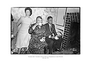 President John F. Kennedy visits his ancestral homestead at Dunganstown, County Wexford.<br />