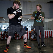 Boxing gym training, Sweet Z's Gym, Kansas City, KS.