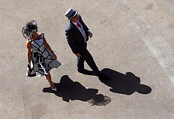 Racegoers during day four of Royal Ascot at Ascot Racecourse.