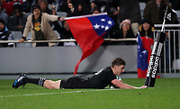 Rugby Union - 2017 Pacifica Challenge - New Zealand v Samoa<br /> <br /> Beaded Barrett of The All Blacks scores his second try at Eden Park Stadium, Auckland.<br /> <br /> <br /> COLORSPORT/LYNNE CAMERON