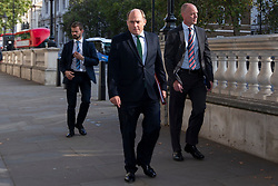 © Licensed to London News Pictures. 10/09/2019. London, UK. Secretary of State for Defence Ben Wallace (centre) arrives at Downing Street ahead of a Cabinet Meeting.  Photo credit: George Cracknell Wright/LNP