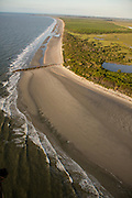 Aerial view of Morris Island in Charleston, SC