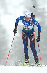 Sylvie Becaert (FRA) at Women 15 km Individual at E.ON Ruhrgas IBU World Cup Biathlon in Hochfilzen (replacement Pokljuka), on December 18, 2008, in Hochfilzen, Austria. (Photo by Vid Ponikvar / Sportida)