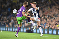West Bromwich Albion midfielder (On loan from Leicester City) Harvey Barnes  battles for possession during the EFL Sky Bet Championship match between West Bromwich Albion and Bristol City at The Hawthorns, West Bromwich, England on 18 September 2018.