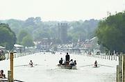 Henley. England. Women's henly Regatta<br /> Photo Peter Spurrier.<br /> Card No. 1/61<br /> <br /> Start of a heat of the women's single sculls at Womens Henley regatta. 20010623 Women's Henley Regatta.
