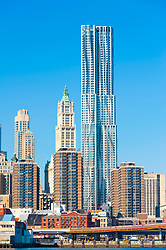 New Beekman Tower designed by Frank Gehry on Manhattan Island New York city USA