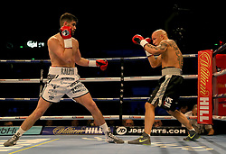 Rocky Fielding (left) and Karel Horejsek in action during their Super-Middlewight contest at the FlyDSA Arena, Sheffield.