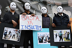 April 26, 2017 - Madrid, Spain - Activists show pictures in Madrid to protest against police brutality in Bangladesh. (Credit Image: © Jorge Sanz/Pacific Press via ZUMA Wire)