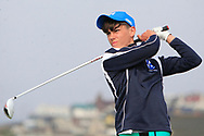 Matthew O'Brien (Blackrock College) on the 1st tee during the Final of the Irish Schools Senior Championship at Portstewart Golf Club, Portstewart, Co Antrim on Tuesday 23rd April 2019.<br /> Picture:  Thos Caffrey / www.golffile.ie