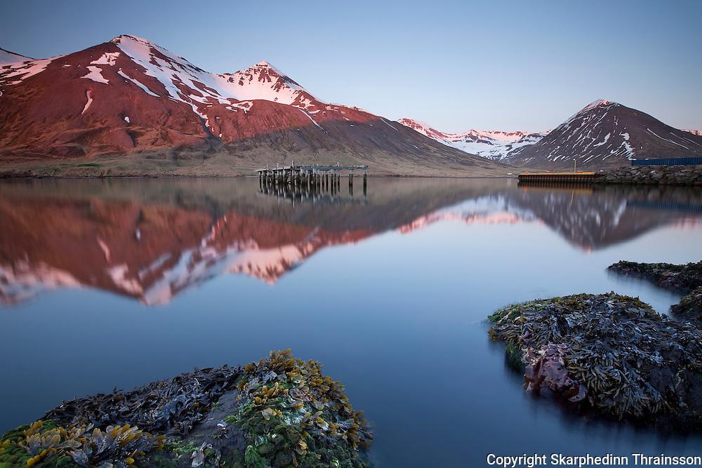 Siglufjörður in Tröllaskagi, north Iceland