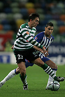 """LISBOA 21 MARCH 2005: # and # in the 26 leg of the Super Liga, season 2004/2005, match  Sporting CP (2) vs FC Porto (0), held in """"Alvalade XXI"""" stadium,  21/03/2005  20:47:09<br /> (PHOTO BY: NUNO ALEGRIA/AFCD)<br /> <br /> PORTUGAL OUT, PARTNER COUNTRY ONLY, ARCHIVE OUT, EDITORIAL USE ONLY, CREDIT LINE IS MANDATORY AFCD-PHOTO AGENCY 2004 © ALL RIGHTS RESERVED"""