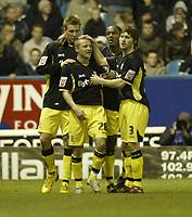 Photo: Aidan Ellis.<br /> Sheffield Wednesday v Birmingham City. Coca Cola Championship. 16/12/2006.<br /> Birmingham's Gary McSheffrey is congratulated after scoring the second