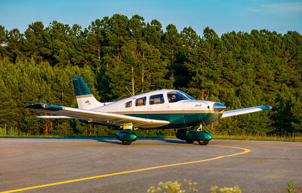 Piper Archer III, shot at Habersham County Airport, near Cornelia, Gerogia.  <br />