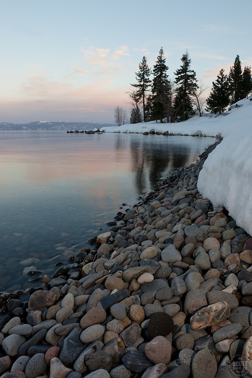 """""""Lake Tahoe Pebbles"""" - These pebbles were photographed at sunset just north of Idlewild, Lake Tahoe, CA."""