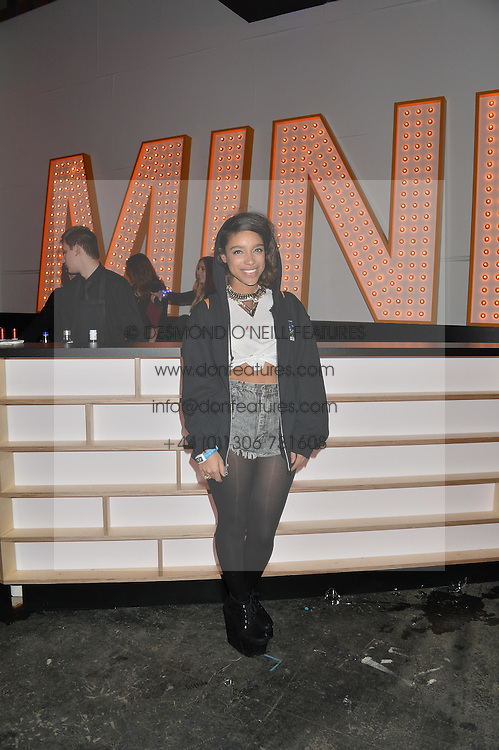 Monday 18th November 2013 saw a host of London hipsters, social faces and celebrities, gather together for the much-anticipated World Premiere of the brand new MINI.<br /> Attendees were among the very first in the world to see and experience the new MINI, exclusively revealed to guests during the party. Taking place in the iconic London venue of the Old Sorting Office, 21-31 New Oxford Street, London guests enjoyed a DJ set from Little Dragon, before enjoying an exciting live performance from British band Fenech-Soler.<br /> Picture Shows:-LIANNE LA HAVAS