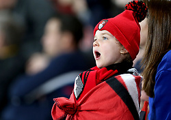 A young AFC Bournemouth fan in the stands