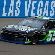 Mar 03, 2018 Las Vegas, NV  U.S.A.  # 55 Joey Gase coming down the home stretch during the Nascar Pennzoil 400 qualifier at Las Vegas Motor Speedway. Thurman James / CSM