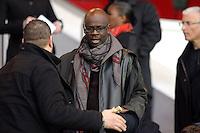 Lilian Thuram - 28.03.2015 - Paris Saint Germain / Glasgow City FC - 1/4Finale retour Champions League<br /> Photo : Andre Ferreira / Icon Sport