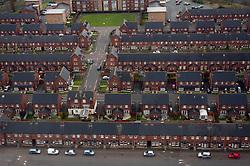 Houses in Belfast, Northern Ireland, on March 28, 2011, Northern Ireland, United Kingdom. (Photo by Vid Ponikvar / Sportida)