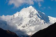 Snow-capped Nevado Veronica (5822m), the highest peak in the Cordillera Urubamba, as seen along the Inca Trail to Machu Picchu, Peru.