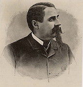 Charles Francis Brush (1849-1929) American inventor, entrepreneur and philanthropist, born at Euclid Township, Ohio. Inventor of the Brush dynamo.  Engraving from 'Scientific American' (New York, 4 October 1884).