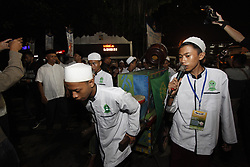 June 14, 2018 - Bogor, West Java, Indonesia - Participants in Bogor Bertakbir doing takbir around the city on the road of Juanda Bogor, West Java, Indonesia to welcome Eid Al-Fitr. (Credit Image: © Adriana Adinandra/Pacific Press via ZUMA Wire)