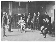 Execution by electric chair, Sing Sing Prison, New York, USA. The execution.  From 'The Royal Magazine', London, c1900.