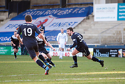 Falkirk's Mark Millar cele scoring their fourth goal from a free kick.<br /> Raith Rovers 2 v 4 Falkirk, Scottish Championship game today at Starks Park.<br /> © Michael Schofield.