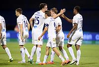 Fotball<br /> 28.07.2015<br /> Foto: CROPIX/Digitalsport<br /> <br /> Zagreb<br /> Maksimir Stadium<br /> UEFA Champions League<br /> GNK Dinamo - FK Molde<br /> <br /> Martin Linnes, Vegard Forren, Mattias Mostrøm, Ola Kamara<br /> Jubel for 1:1