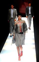Models on the runway during the Giorgio Armani Fashion Show held during Milan Fashion Week. 22 Sep 2017 Pictured: Giorgio Armani Fashion Show. Photo credit: Fotogramma / MEGA TheMegaAgency.com +1 888 505 6342