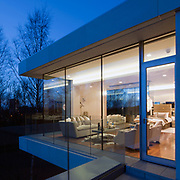 EXTERNAL NIGHT TIME VIEW - PRIVATE RESIDENCE