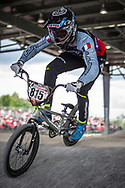 #815 (CLERTE Eddy) FRA at Round 6 of the 2019 UCI BMX Supercross World Cup in Saint-Quentin-En-Yvelines, France