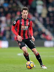 """AFC Bournemouth's Adam Smith during the Premier League match at the Vitality Stadium, Bournemouth. PRESS ASSOCIATION Photo. Picture date: Saturday March 17, 2018. See PA story SOCCER Bournemouth. Photo credit should read: Mark Kerton/PA Wire. RESTRICTIONS: EDITORIAL USE ONLY No use with unauthorised audio, video, data, fixture lists, club/league logos or """"live"""" services. Online in-match use limited to 75 images, no video emulation. No use in betting, games or single club/league/player publications."""