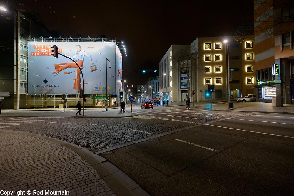 Porto, Portugal - February 13, 2018 - Night-time photo taken in city of Porto, Portugal. <br /> <br /> Image: © Rod Mountain<br /> <br /> http://www.rodmountain.com<br /> <br /> @visitportugal @visitporto.portal<br /> @TurismoPortoNortePortugal @TurismodePortugal<br /> <br /> #main_vision #justgoshoot #agameoftones#urbex#createexplore #nighttime #nighttimephotography #bnw_city #bwphotography #bw_awards #nb #bwstyles_gf  #bwzgz #foto_bw #mono #blackandwhiteisworththefight #life_is_street #sweet_street_beat #one_shot_ #burnmyeye #streets_unseen #travelblog #travelersnotebook #porto #stayandwander #traveldeeper #hotelstay <br /> <br /> #NikonCA #NikonNoFilter #NikonEurope<br /> Nikon D800 / Nikkor Lens @nikoncanada @nikoneurope<br /> <br /> https://en.wikipedia.org/wiki/Porto<br /> https://www.visitportugal.com/en<br /> https://en.wikipedia.org/wiki/Portugal