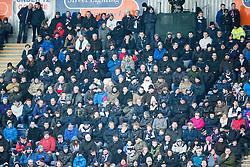 South stand, first half. <br /> Falkirk 1 v 1 Hibernian, Scottish Championship game played 17/1/2015 at The Falkirk Stadium.