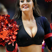 14 March 2012: One of the Chicago Bulls Luvabulls performs during the Chicago Bulls 106-102 victory over the Miami Heat at the United Center, Chicago, Illinois, USA.