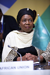 VALLETTA, Nov. 12, 2015 (Xinhua) -- African Union chairwoman Nkosazana Dlamini-Zuma is pictured on the second day of the Valletta Summit on Migration in Valletta, Malta, November 12, 2015. European Commission President Jean-Claude Juncker launched here Thursday an emergency trust fund for providing stability and redressing root causes of irregular migration and displaced persons in Africa. (Xinhua/Jin Yu) (zjy) (Credit Image: © Jin Yu/Xinhua via ZUMA Wire)
