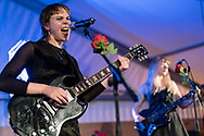 Andreya Casablanca of German pop-punk duo Gurr at Haldern Pop Festival