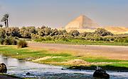 Looking at the Bent Pyramid from King Farouk Lake